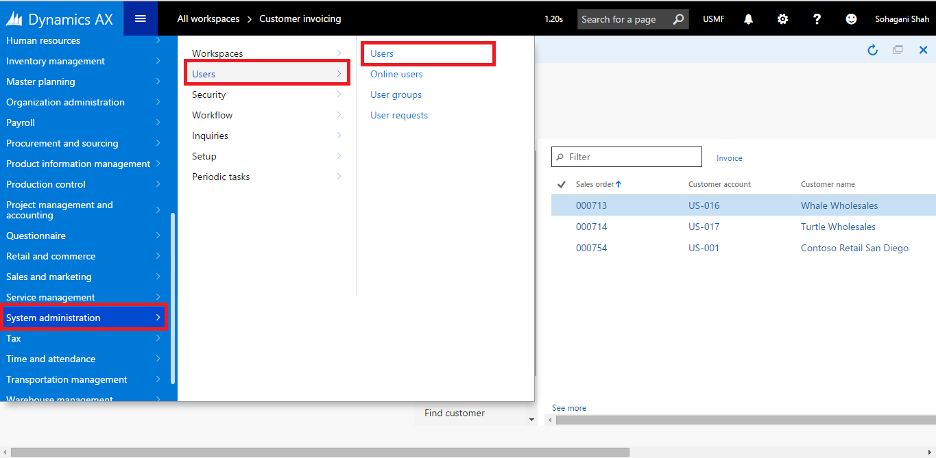 Open Table Browser with different legal entity in AX 7