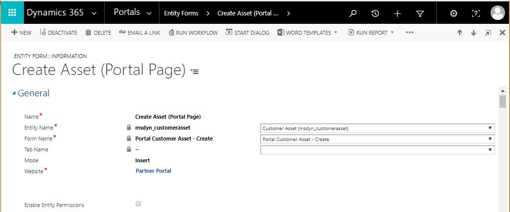 Create Customer Assets in D365 Partner Field Service Portal