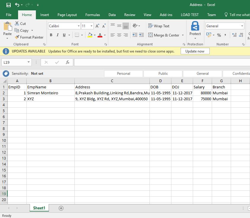 Excel Source