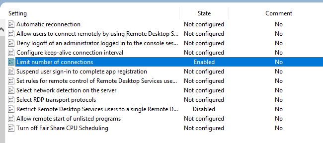 Limit number of Connections