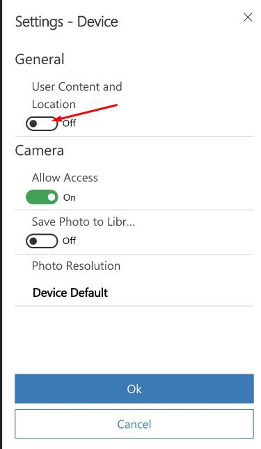 User Location On